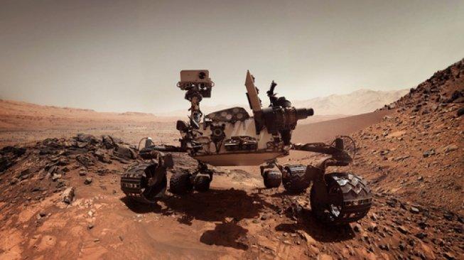 Mobil robotik sekaligus laboratorium berjalan milik badan antariksa Amerika Serikat di Mars, Curiosity. [Shutterstock]