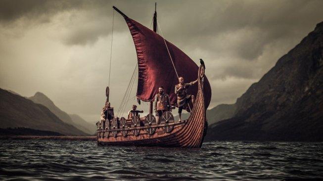 Ilustrasi kapal Viking. [Shutterstock]