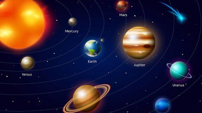 Ilustrasi planet di Tata surya kita. [Shutterstock]