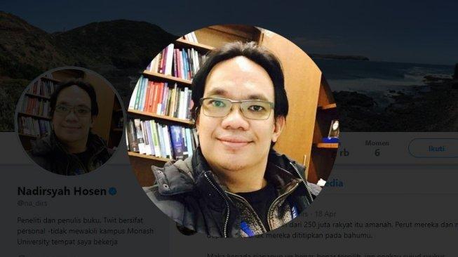 Rais Syuriah PCNU Australia Nadirsyah Hosen atau Gus Nadir (Twitter)
