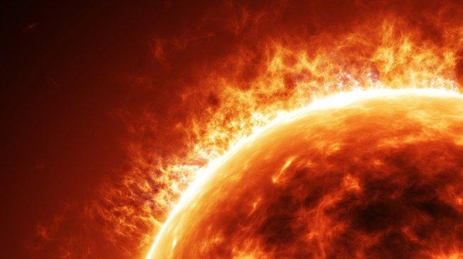 Matahari lockdown atau solar minimum disebut akan picu bencana. Ilustrasi permukaan Matahari. [Shutterstock]