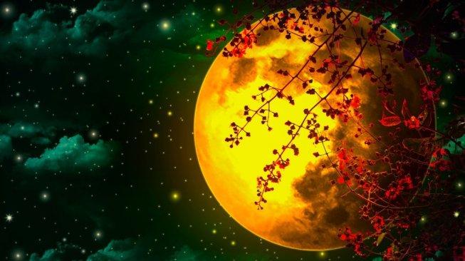 Ilustrasi Bulan Purnama. [Shutterstock]