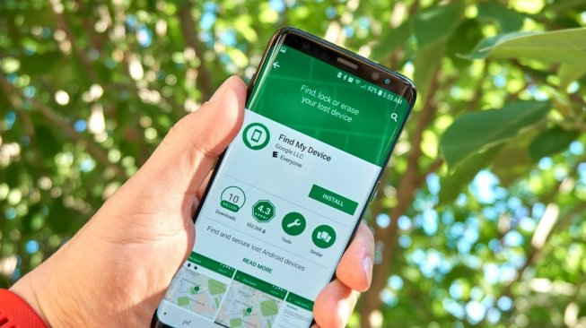 Aplikasi find my device. [Shutterstock]