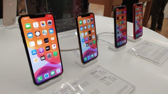 iPhone 11 Series hadir di Indonesia, (6/12/2019). Sebagai ilustrasi [Suara.com/Tivan Rahmat]