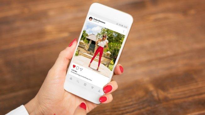 Ilustrasi like di Instagram. [Shutterstock]