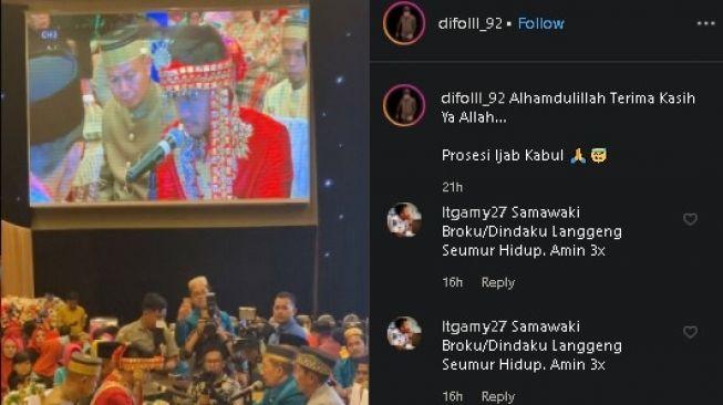 Pernikahan anak juragan kapal Raja Ampat. (Instagram/@difolll_92)