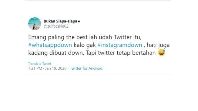 Cuitan warganet #WhatsAppdown #instagramdown. [Twitter]