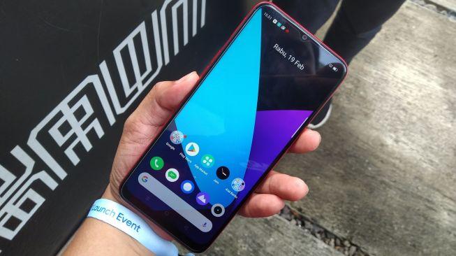 Realme C3 diluncurkan di Jakarta, Rabu (19/2/2020). [Suara.com/Tivan Rahmat]