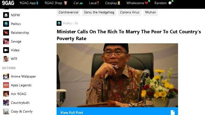 Fatwa si kaya wajib nikahi si miskin masuk 9gag. (9gag)
