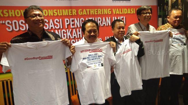 Mini Talkshow & Sosialisasi Pengaturan IMEI di Jakarta, Kamis (27/2/2020). [Suara.com/Tivan Rahmat]
