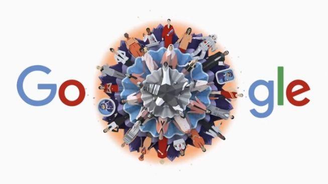 Google Doodle Hari Perempuan Internasional. [Google]