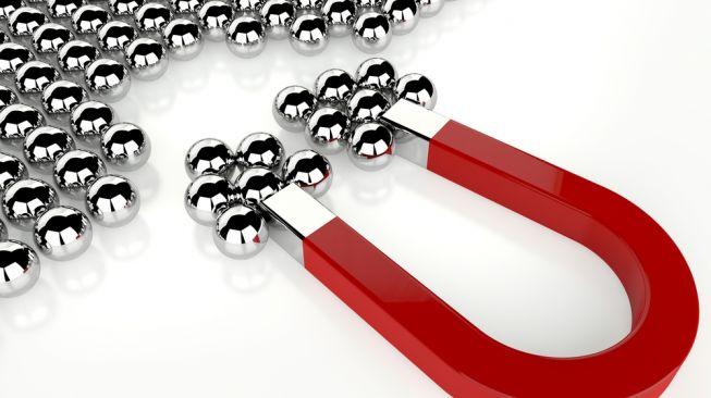 Ilustrasi bola magnet. [Shutterstock]