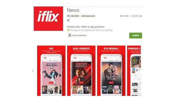 Aplikasi nonton streaming gratis, iflix. [Google Play Store]