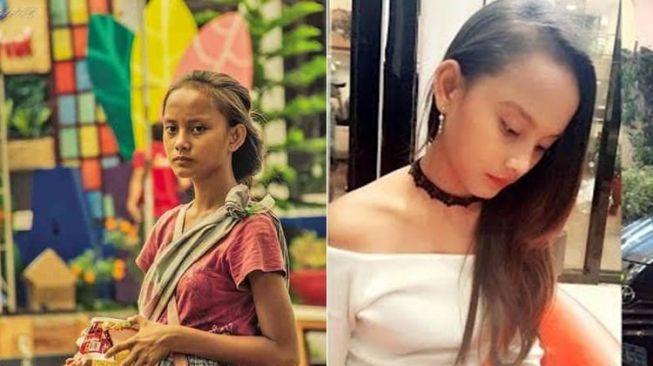 Pengemis cantik viral di Filipina (Topher Quinto Burgos/Rita Gaviola/Odditycentral)