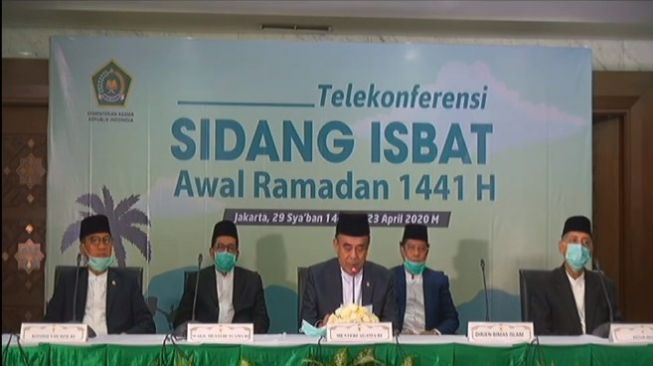 Telekonferensi sidang isbat awal Ramadan 1441 H (Kemenag RI)