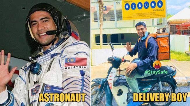 Astronot pertama Malaysia kini jadi kurir pengantar makanan (dok World of Buzz)