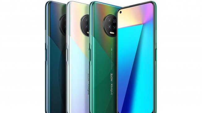 Harga Infinix Note 7, ponsel yang meluncur pada 30 April, akan di kisaran Rp 2 juta. [Antara/Dok Infinix]