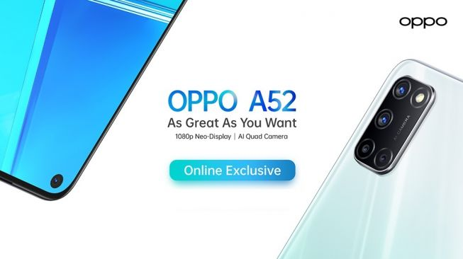 Oppo A52. [Oppo Indonesia]