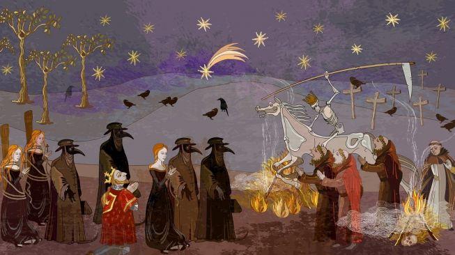 Ilustrasi Black Death. [Shutterstock]