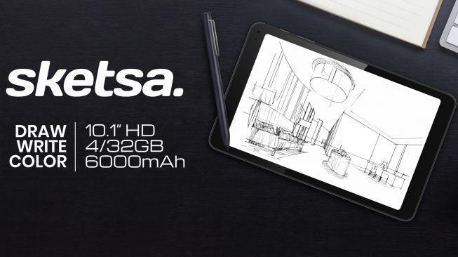 Tablet Advan Tab Sketsa diluncurkan pada pekan ini dengan harga Rp 2,1 juta. [Dok Advan]