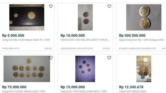 Uang koin Rp 1000 gambar kelapa sawit (ist)