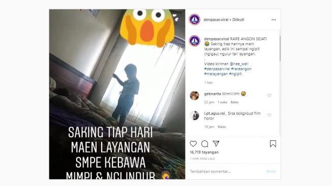 Viral Bocah Ngelindur Seperti Mengulur Tali, Gara-gara Tiap Hari Layangan (Instagram)
