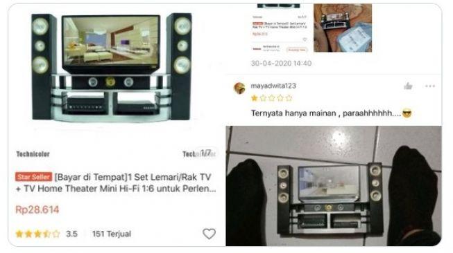 Home theater mini Rp 28 ribu (Twitter/txtdarionlshop)
