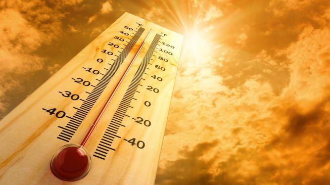 Ilustrasi suhu panas. [Shutterstock]