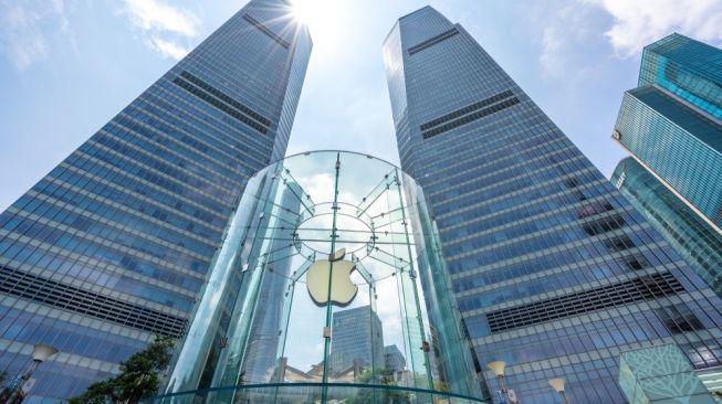 Ilustrasi logo Apple [Shutterstock].