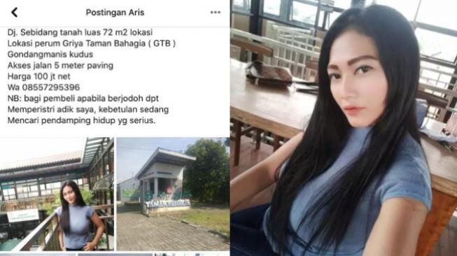 Viral Jual Tanah Bonus Janda Cantik di Kudus, Sosok Dewi Dicari-cari (Facebook)