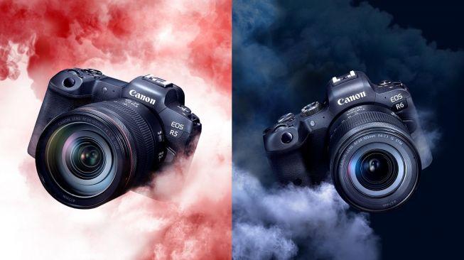 Canon EOS R5 dan EOS R6. [Datascrip]