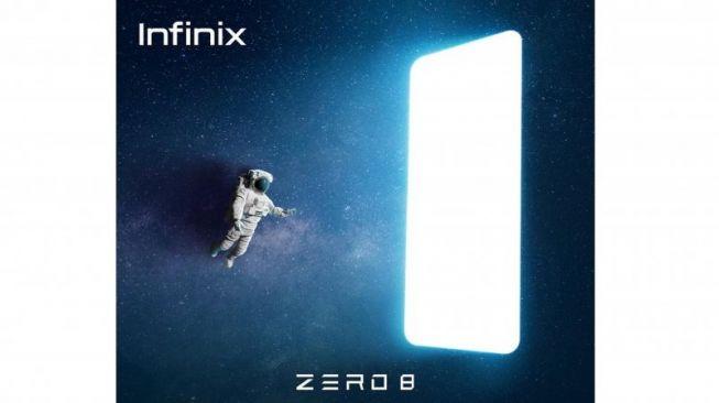 Dari spesifikasi Infinix Zero 8 terlihat HP ini akan bersaing di pasar gawai gaming. Foto: Poster peluncuran Infinix Zero 8. [Infinix Indonesia]