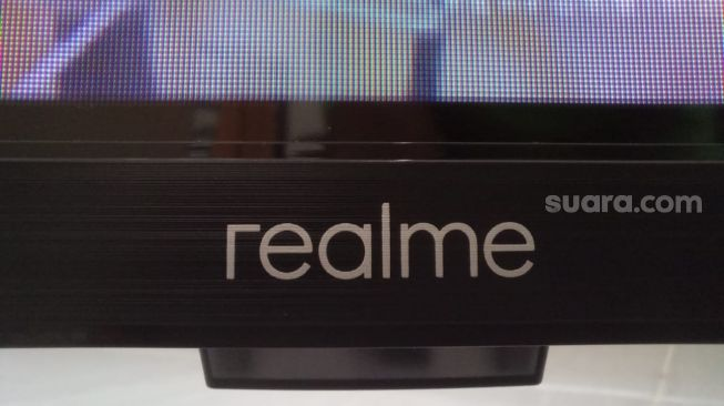 Realme Smart TV. Sebagai ilustrasi produk Realme [Suara.com/Tivan Rahmat]