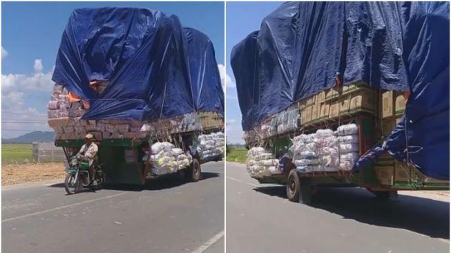 Aksi motor perkasa. (Facebook/Werdi Agung Suwargono)