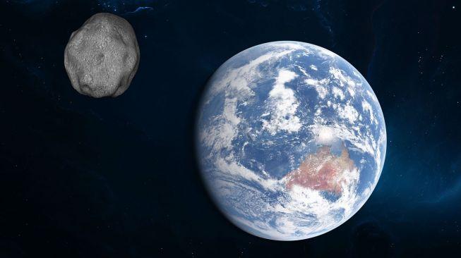 Ilustrasi Asteroid melintasi Bumi. [urikyo33/Pixabay]