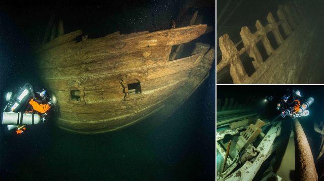 Kapal berusia 400 tahun. [Daily mail]