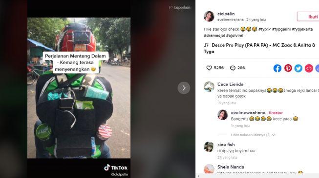 Viral Ojol Bintang Lima (TikTok/@cicipelin).