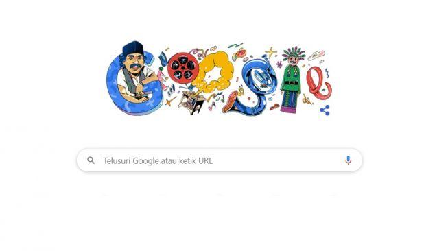 Google Doodle Benyamin Sueb. [Screenshot/Google]