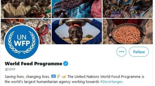 Organisasi Pangan Dunia (WFP) memenangkan Nobel Perdamaian 2020, demikian diumumkan pada Jumat (9/10/2020). [Foto:Twitter/@wfp]