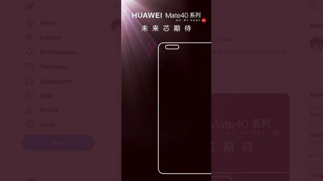 Bocoran tanggal peluncuran Huawei Mate 40. [Twitter]