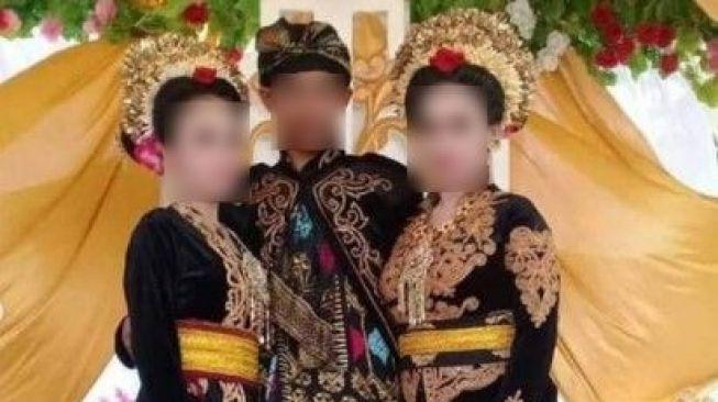 Anak SMK nikahi dua cewek sekaligus. (Instagram/@info_tabanan)