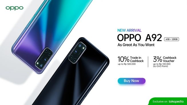 Oppo A92 RAM 6GB. [Oppo Indonesia]