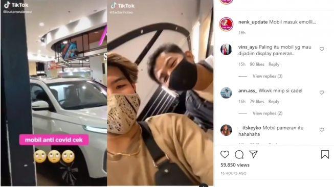 Video mobil masuk mall. - (Instagram/@nenk_update)