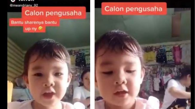 Video balita bantu jualan ibunya. (Twitter/@rakyatjelataTV)