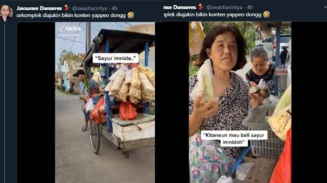 Ngakak! Pria Ini Jualan Sayur Pakai Bahasa Korea Ajak Ibu-ibu Sekompleks. (Twitter/@swatiacintya)