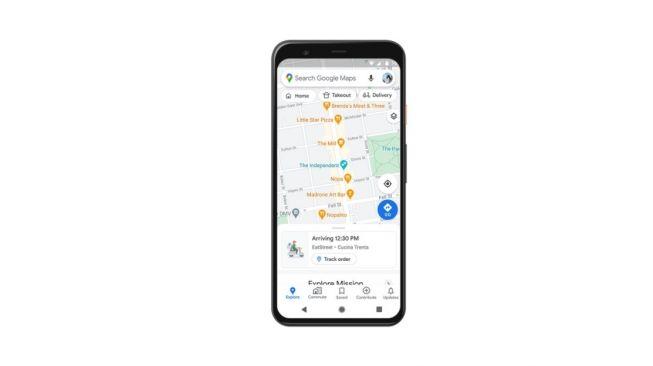 Fitur baru Google Maps, fitur kepadatan jalur transit. [Google]