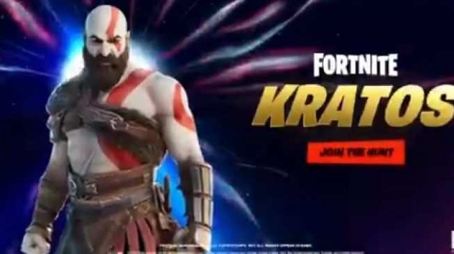 Karakter Kratos dalam game Fortnite. [Twitter/Playstation]