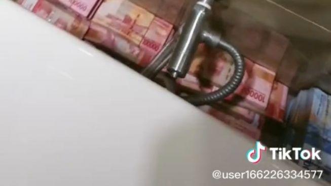 Viral suami sembunya uang (TikTok/user166226334577)