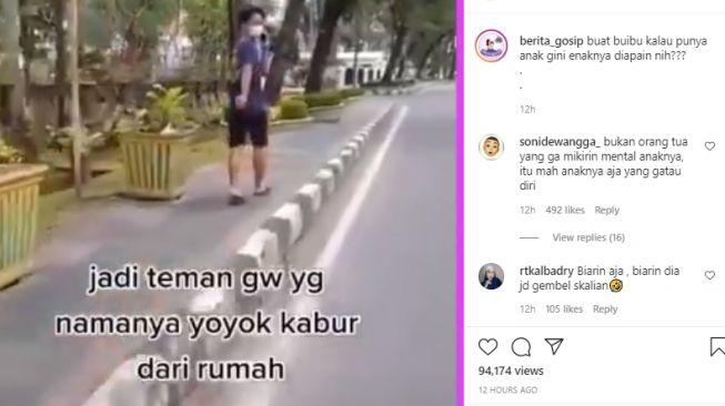 Kabur dari rumah karena tak dibelikan iPhone. (Instagram/@berita_gosip)