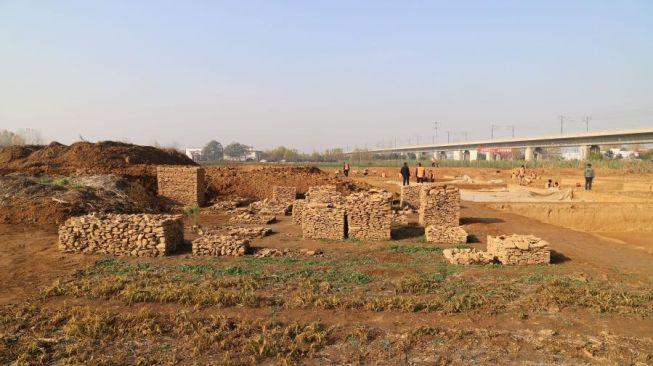 Penemuan makam kaisar China. [Xinhuanet]
